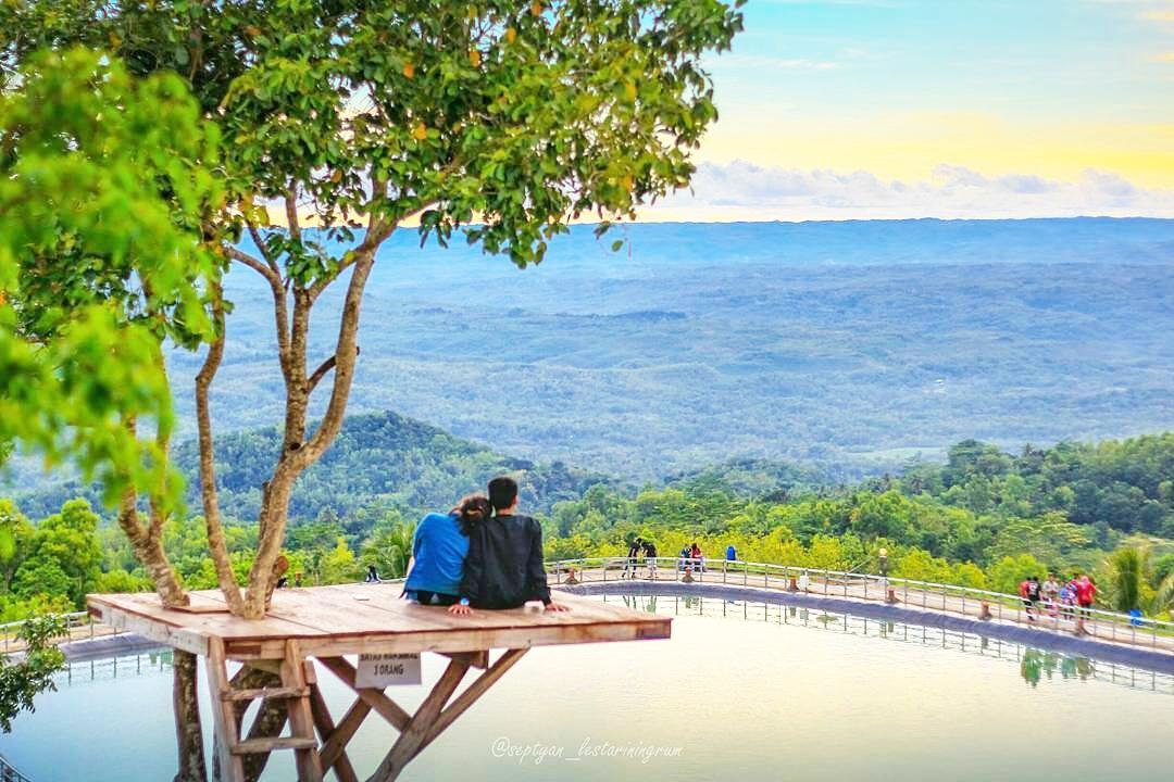 Pesona Danau Buatan Embung Nglanggeran Gunung Kidul Eksotis Jogja Tegalarum