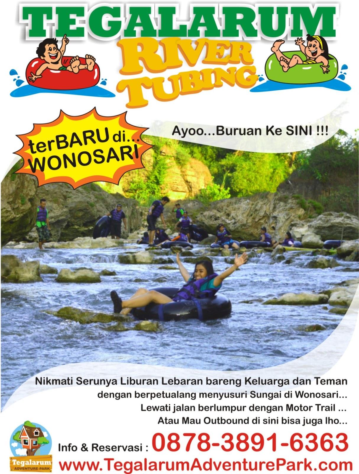 Tegalarum River Tubing Wisata Wonosari Adventure Park Gambar Kab Gunungkidul