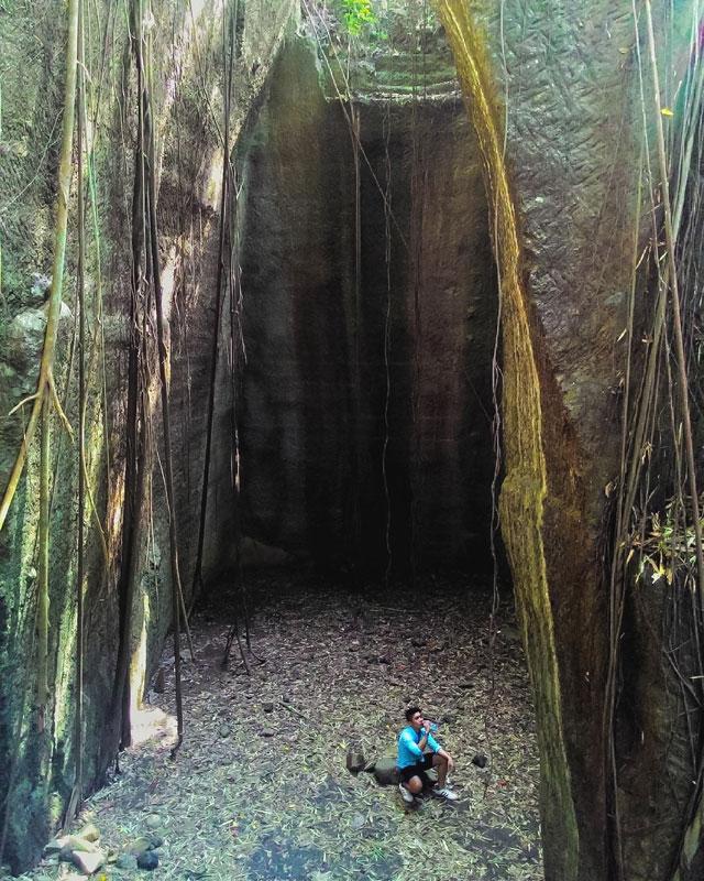 Mirip Banget Reruntuhan Kuil Suku Maya Watu Giring Berada Villa