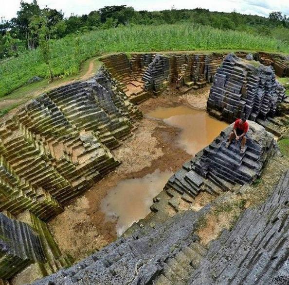 Watu Giring Semanu Gunung Kidul Hasil Gambar Lokasi Telaga Biru