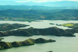 Danau Sentani Jayapura Utiket Seluas 9 360 Hektar Terbentang Antara