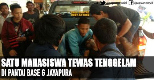Satu Mahasiswa Tewas Tenggelam Pantai Base Jayapura Papua Papuanews Id
