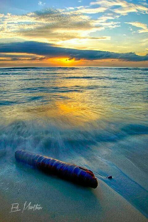 Sunset View Base Beach Jayapura Papua Indonesia Photo Ed Marthen