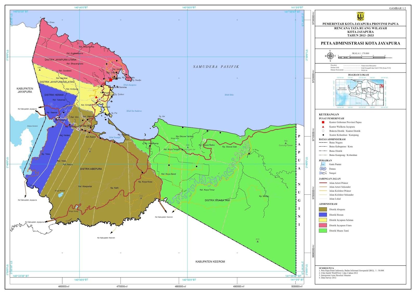 2017 Profil Kota Jayapura Resmi Ditetapkan Sebagai Wilayah Administratif Tanggal