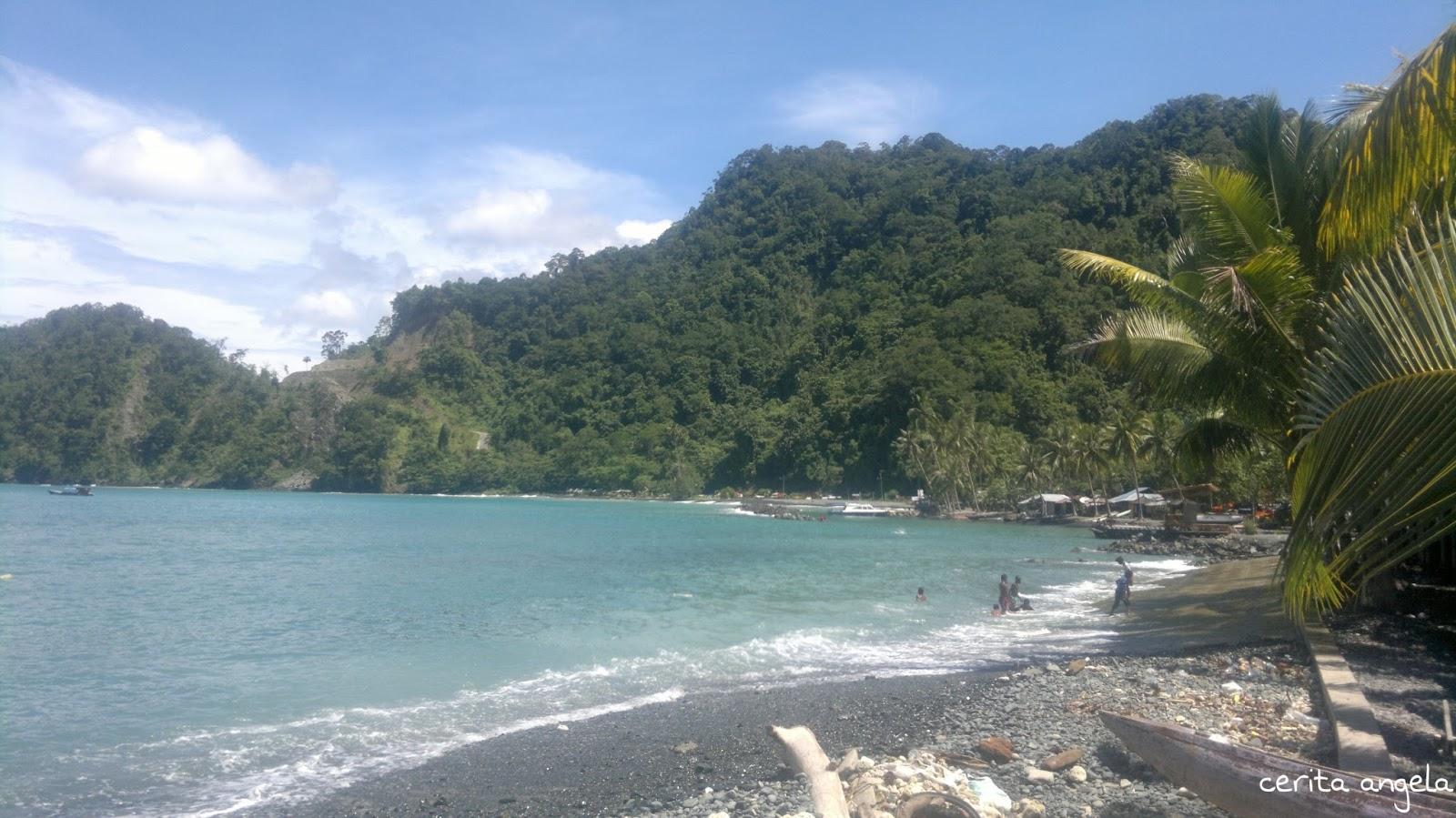 Black Stone Beach Tak Selamanya Pantai Indah Berpasir Jayapura Landscape