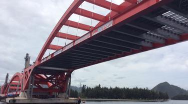 Soekarnopura Pengganti Nama Jembatan Holtekamp Jayapura Regional 95 Persen Pengerjaan