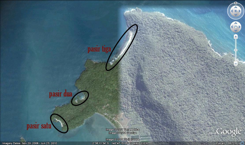 Agung Sabtaji Wisata Pantai Kota Kabupaten Jayapura Pasir Enam Distrik