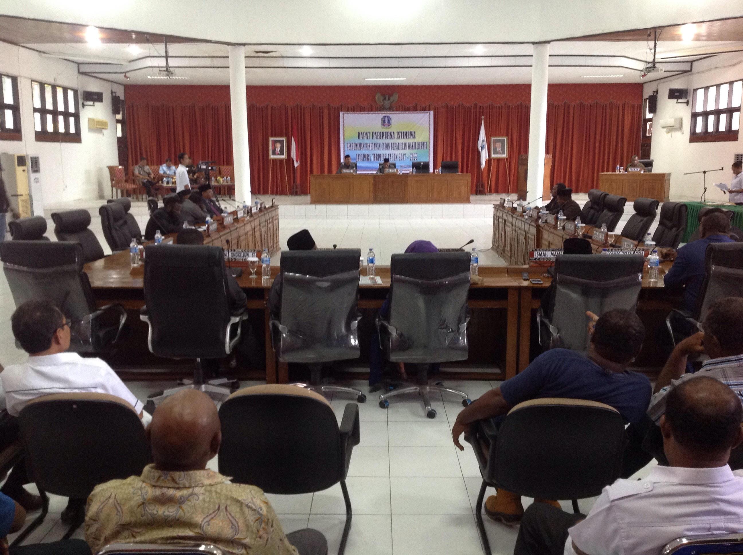 Dprd Gelar Sidang Paripurna Istimewa Penetapan Calon Bupati Jayapura Rabu