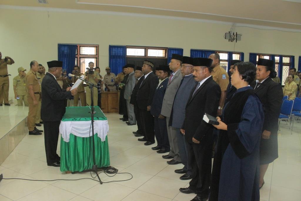 Pemkab Jayapura Mutasi Puluhan Jabatan Esolon Ii Berita Papua Bupati