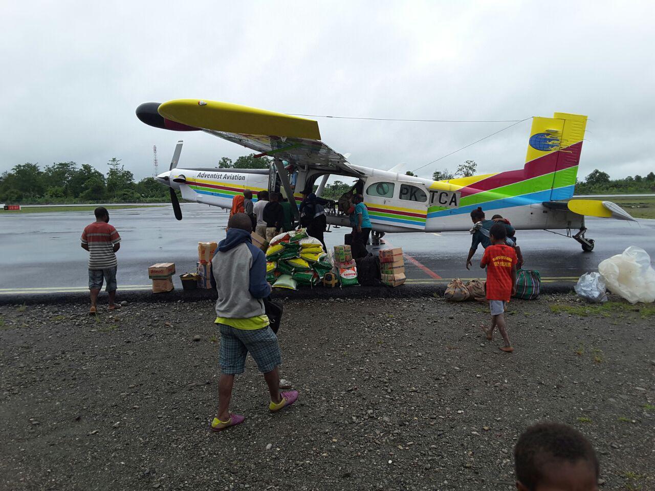 Pesawat Pilatus Milik Advent Doyo Tergilincir Yahukimo Tak Korban Jiwa