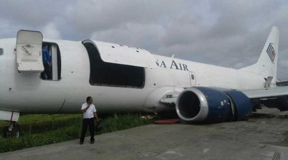 Roda Patah Pesawat Kargo Gagal Mendarat Pontianak Post Tengah Hutan