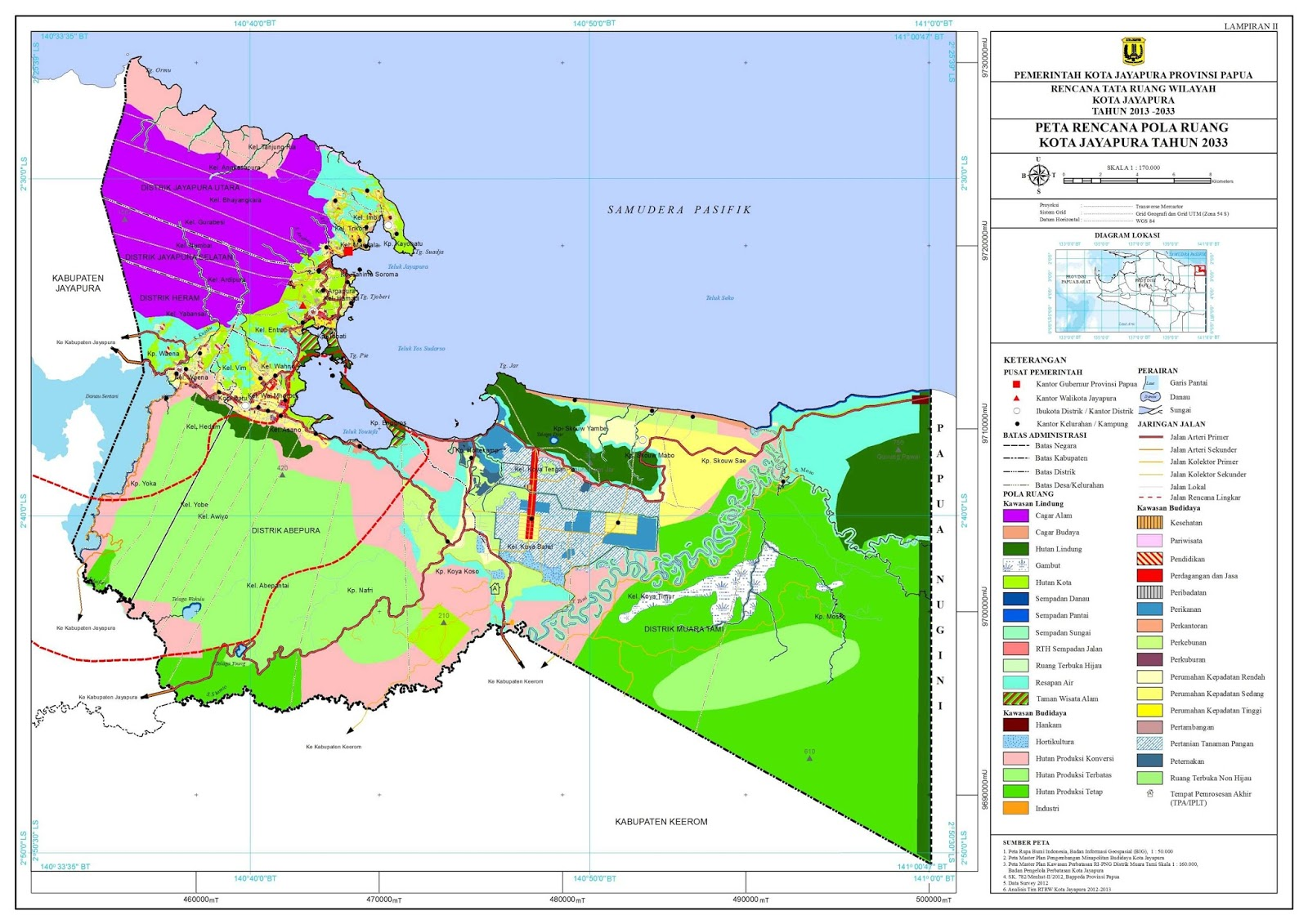Gambaran Konstelasi Wilayah Sumber Rtrw Kota Jayapura 2013 2033 Teluk