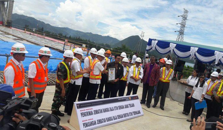 Jembatan Holtekamp Papua Dapatkan Dua Rekor Muri Cenderawasihnews Bina Marga
