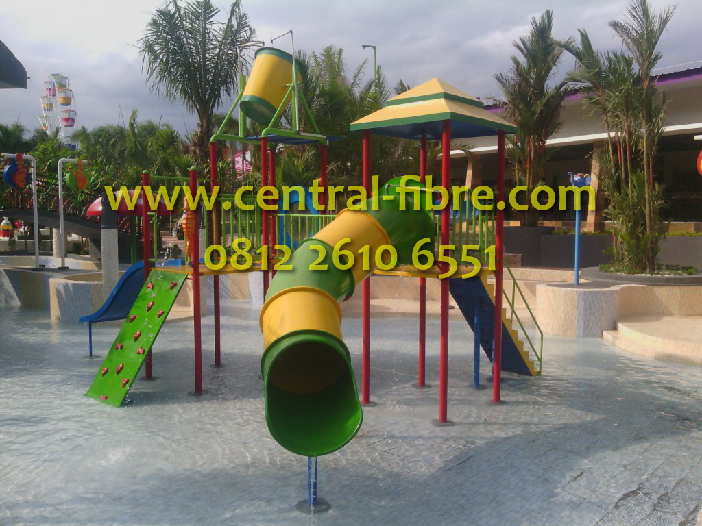 Water Playground Dira Park Central Fibre Kab Jember