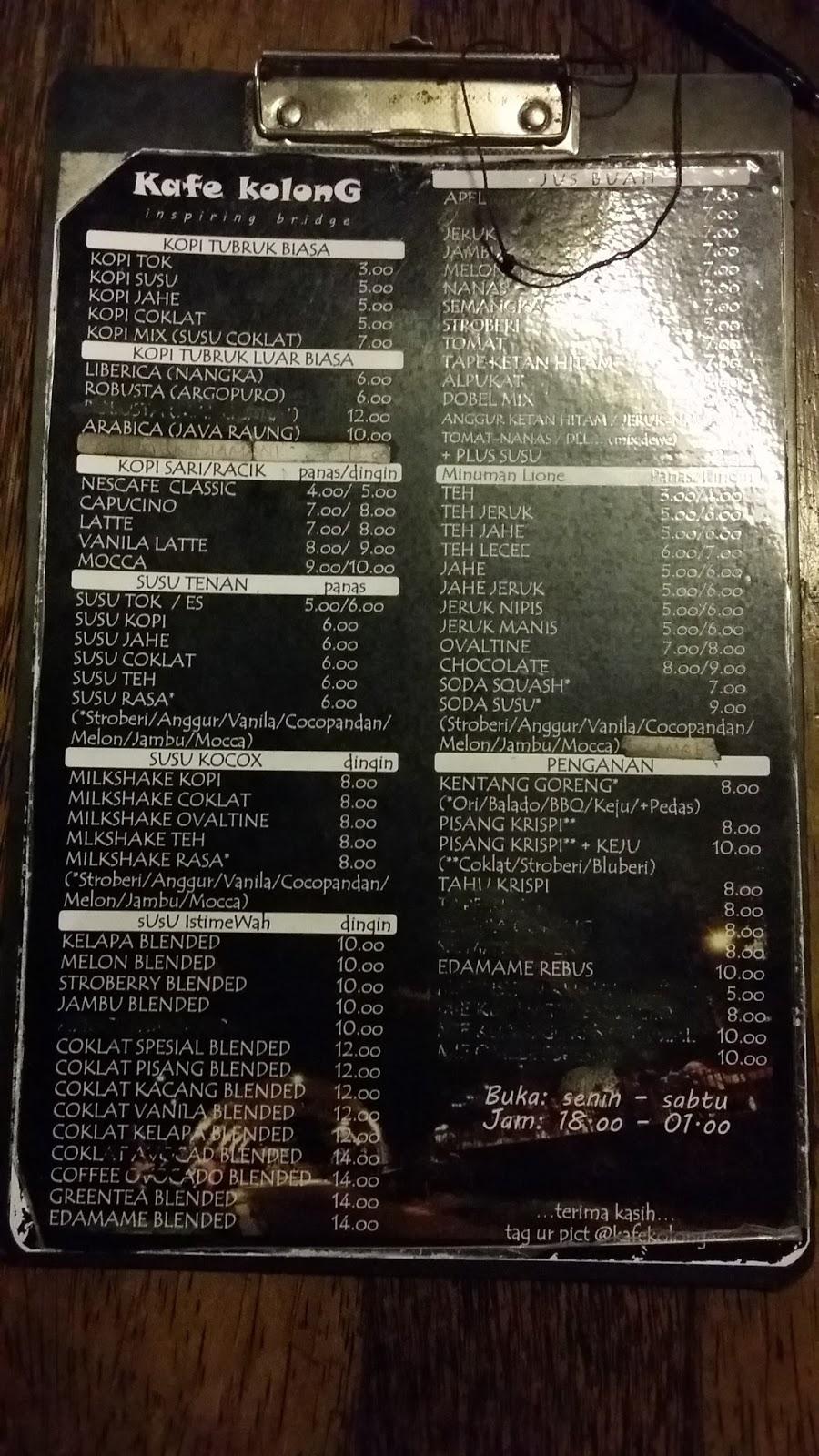 Blognya Yanu Liburan Jember Kafe Kolong Kab