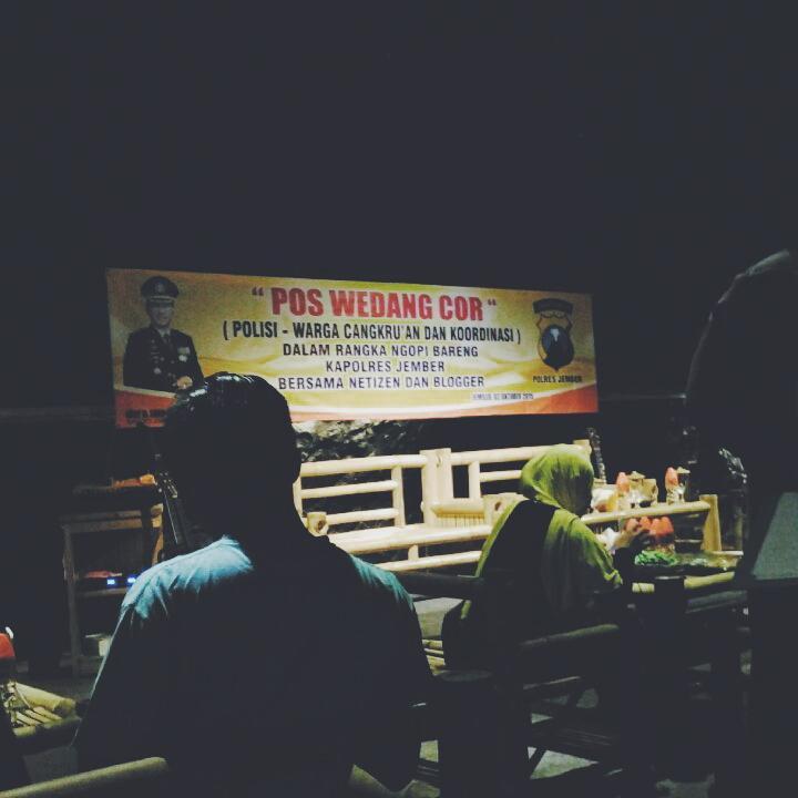 Infojember Twitter Cangkrukan Ngopi Bareng Kapolres Jember Netizen Blogger Kafe