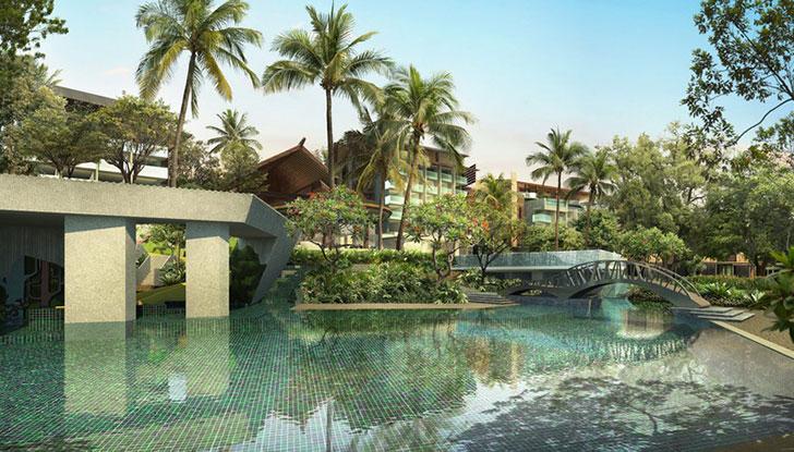 Rimba Jimbaran Bali Hotel Villa Pool Side Kolam Renang Green