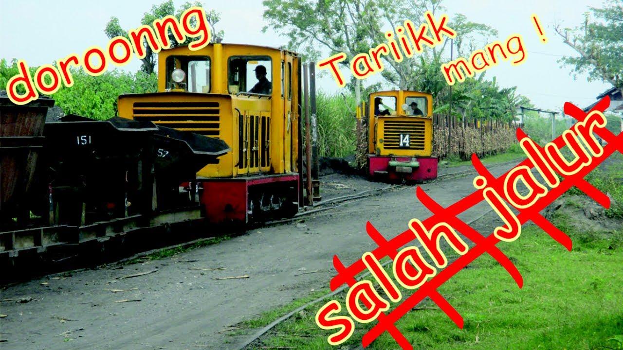 Wkwk Salah Jalur Tarik Dorong Kereta Diesel Pg Semboro Youtube