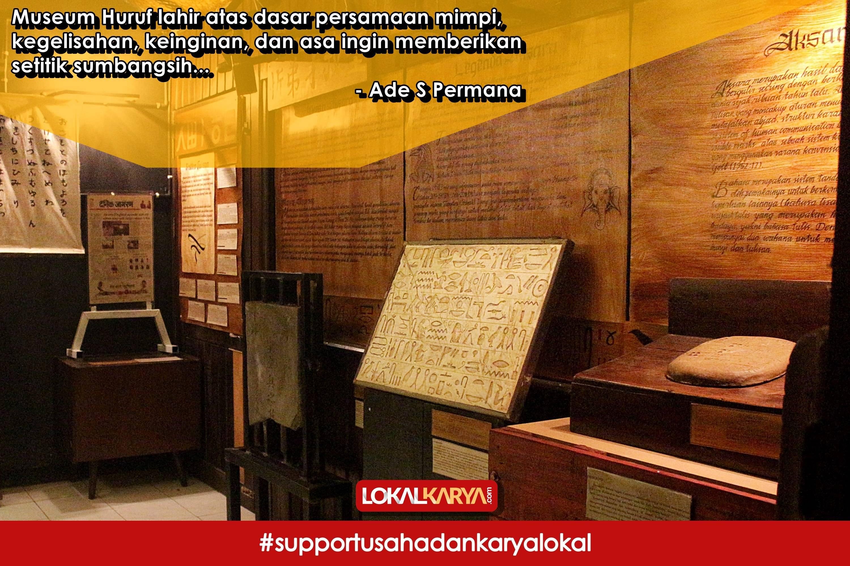 Museum Huruf Perpustakaan Jember Lokal Karya Lokalkarya Kab
