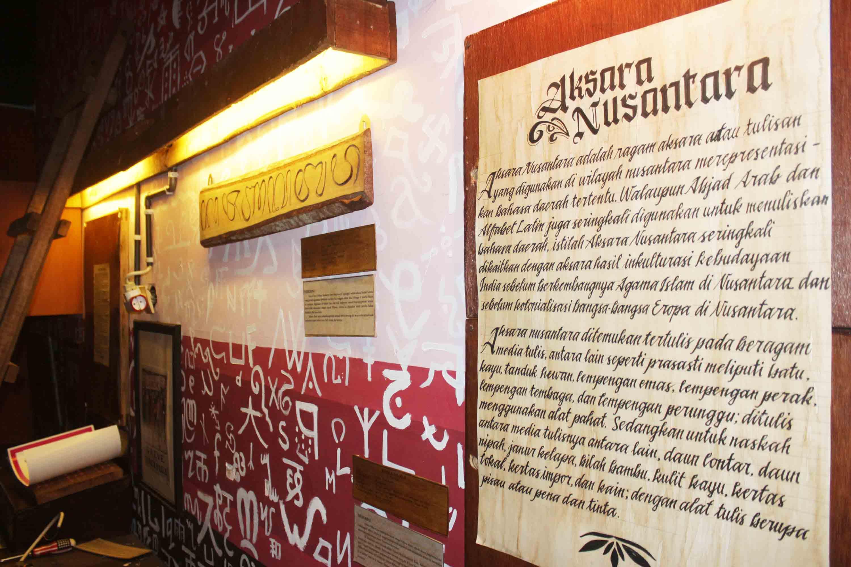 Obyek Wisata Sejarah Museum Aksara Jember Huruf Kab