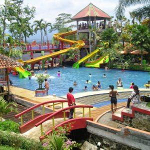 Obyek Wisata Nongai Waterboom Jember Dira Waterpark Taman Botani Dibuka