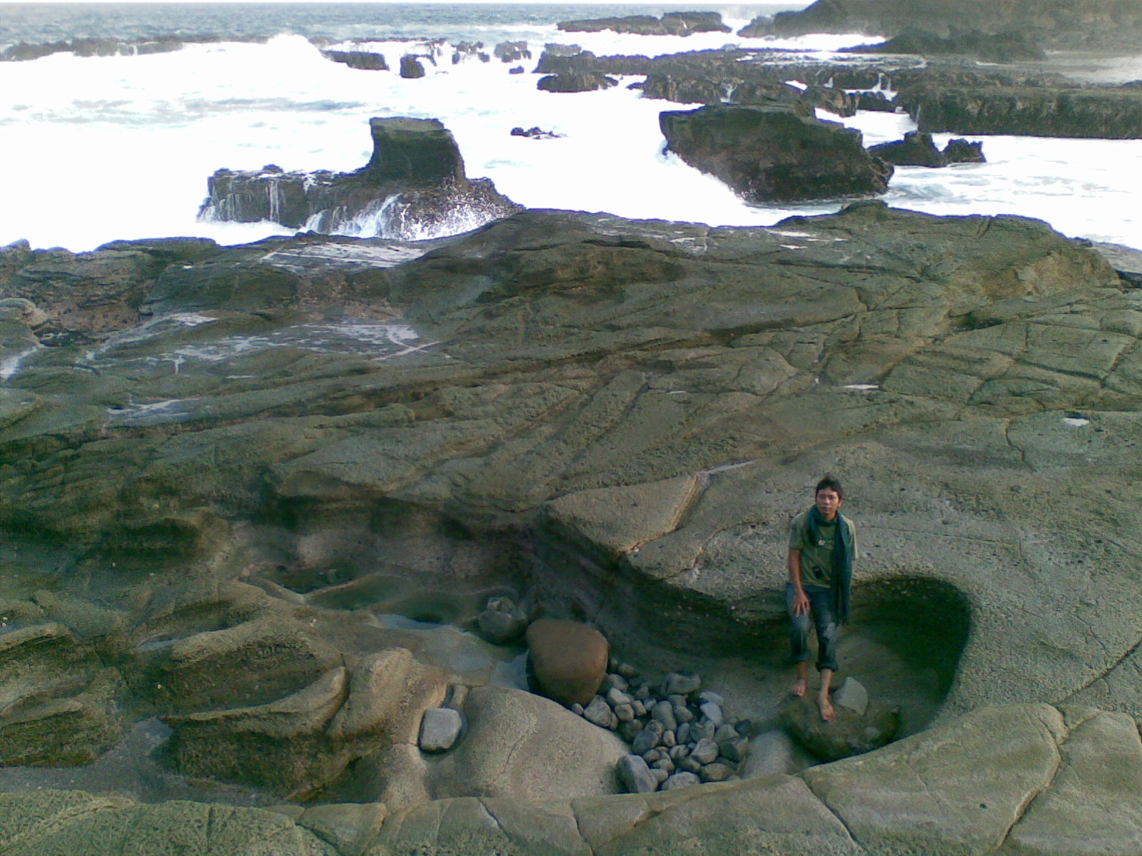 Pantai Eksotis Tanjung Papuma Jember Kupu Biru Surut Kab