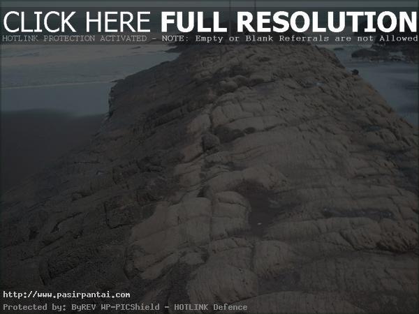 Batu Pantai Watuulo Pasirpantai Jawa Timur Watu Ulo Jember Kab
