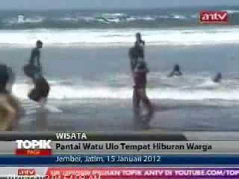 Keindahan Pantai Watu Ulo Jember Beach Youtube Kab