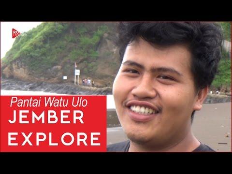 Vlog Pantai Watu Ulo Kabupaten Jember Jatim Youtube Kab