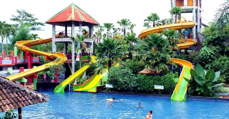 Kolam Renang Tiara Park Waterboom Jember Tempat Wisata Water Pemandian