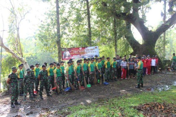 Yonif Raider 515 Kostrad Bersihkan Wisata Pemandian Patemon Pb Jember