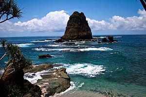 Kabupaten Jember Wikipedia Bahasa Indonesia Ensiklopedia Bebas Pantai Papuma Wilayah