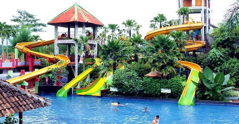 Pesona Waterpark Tiara Indah Keindahan Water Park Jember Taman Air