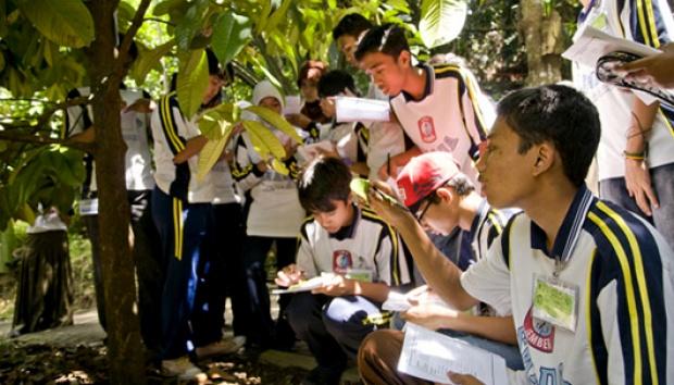 Menjelajah Alam Taman Botani Gaya Tempo Sejumlah Siswa Mempelajari Tanaman