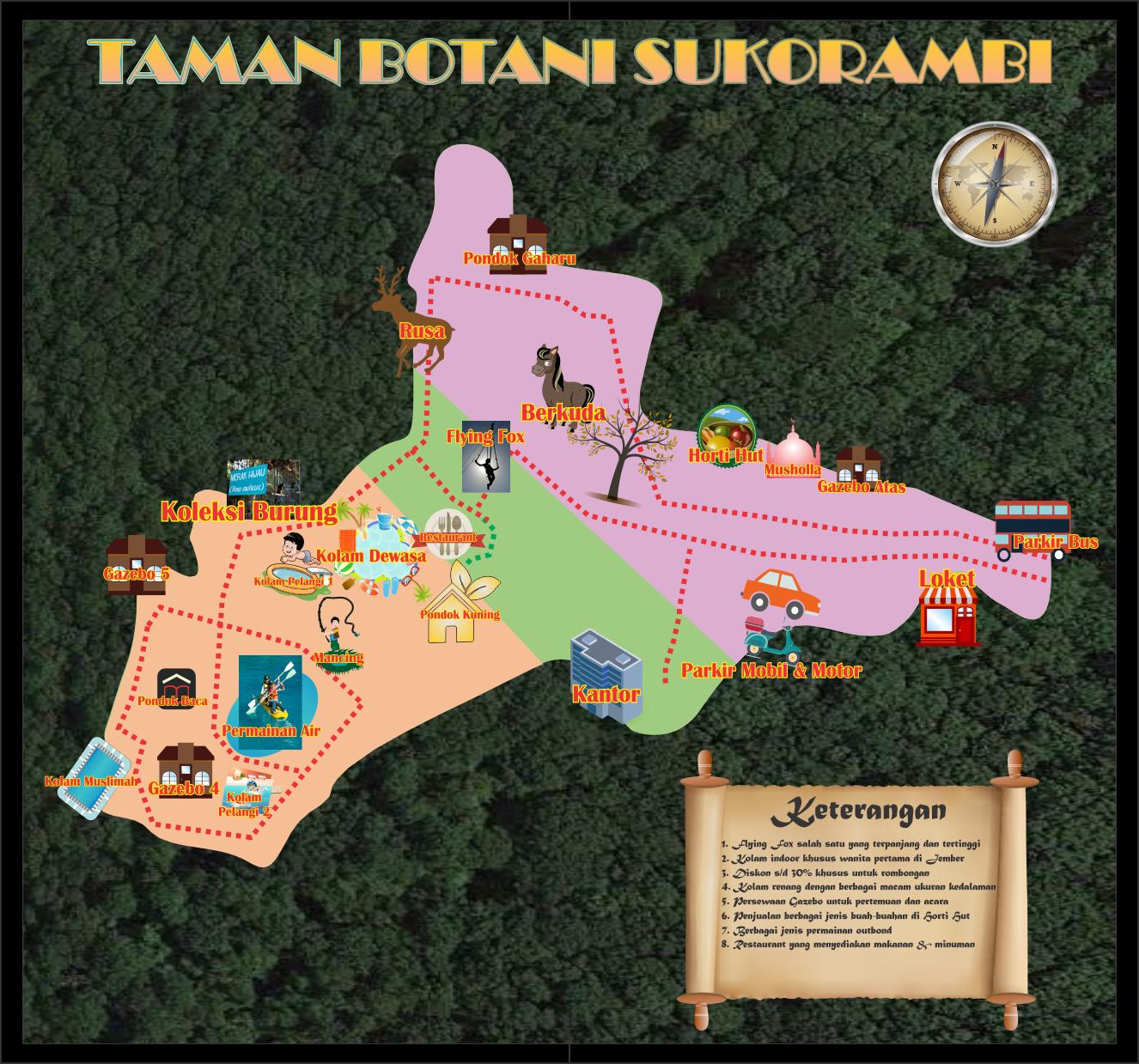 Taman Botani Sukorambi Botanical Garden Blusukan Jember Harga Tiket Masuk