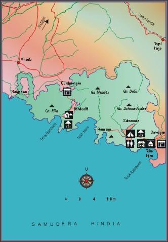 Taman Nasional Meru Betiri Potlot Adventure Peta Kab Jember