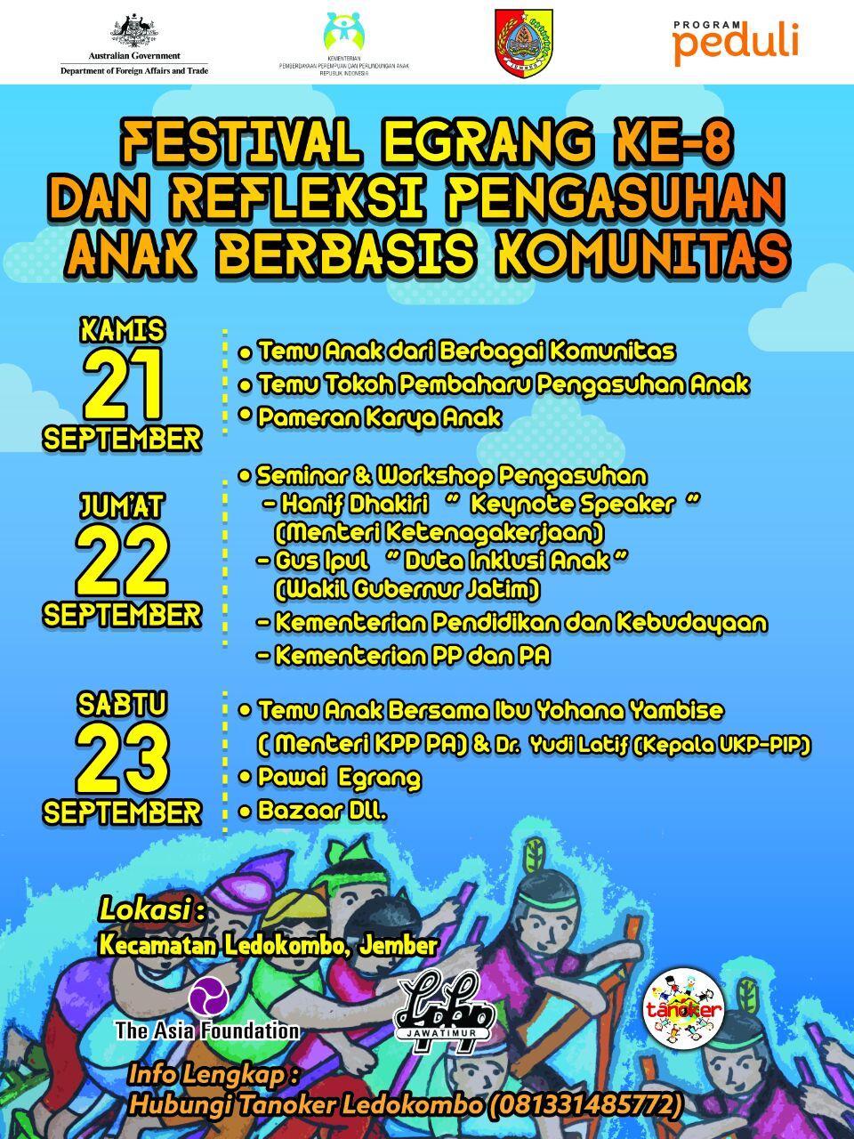 Menteri Hadir Bupati Faida Deklarasikan Jember Kabupaten Layak Anak Festival