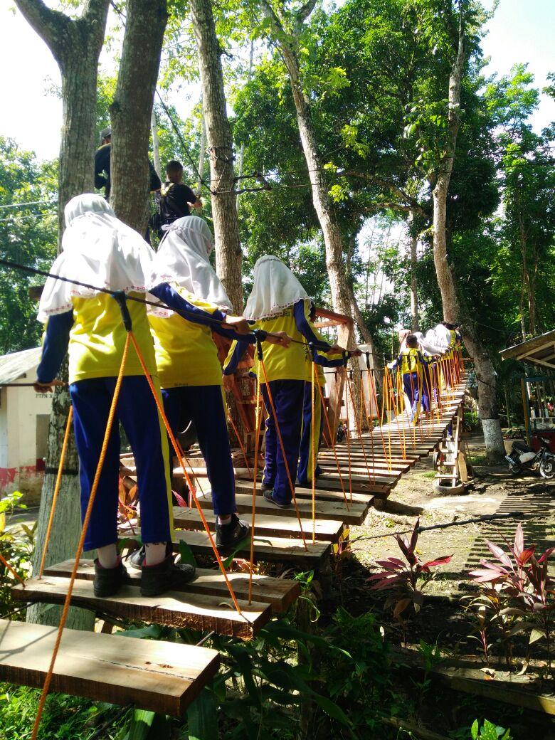 Mi Muhammadiyah 3 Wonoasri Luar Kelas Bertajuk Outbound Ceria Wisata