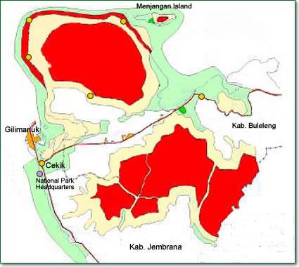 Bali Barat National Park North Nature Map Taman Nasional Kab