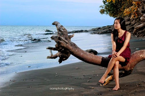 Obyek Wisata Sunset Pantai Rening Jembrana Taman Nasional Bali Barat