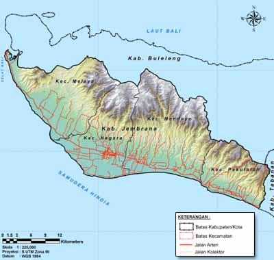 Pemerintah Daerah Kabupaten Jembrana Peta Jaringan Jalan Taman Nasional Bali