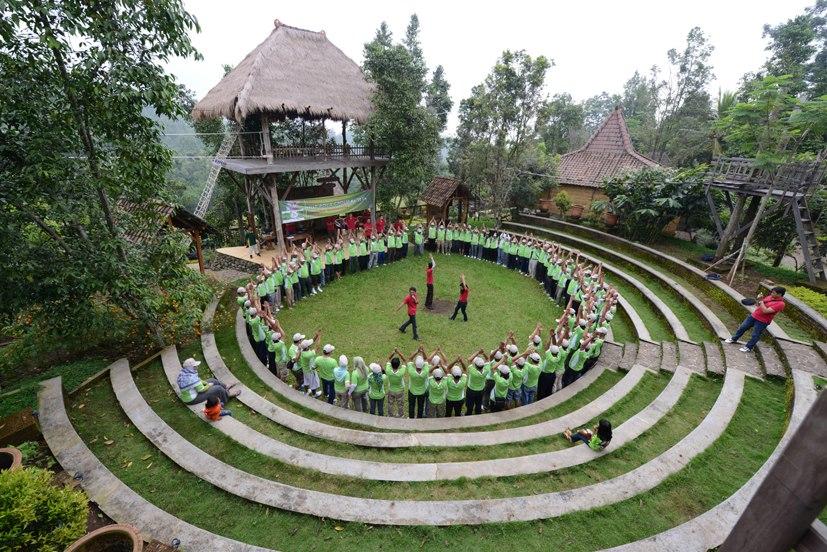 Outbound Wonosalam Kampoeng Djawi Lokasi Dilengkapi Fasilitas Desain Amphiteater Dilengkapii