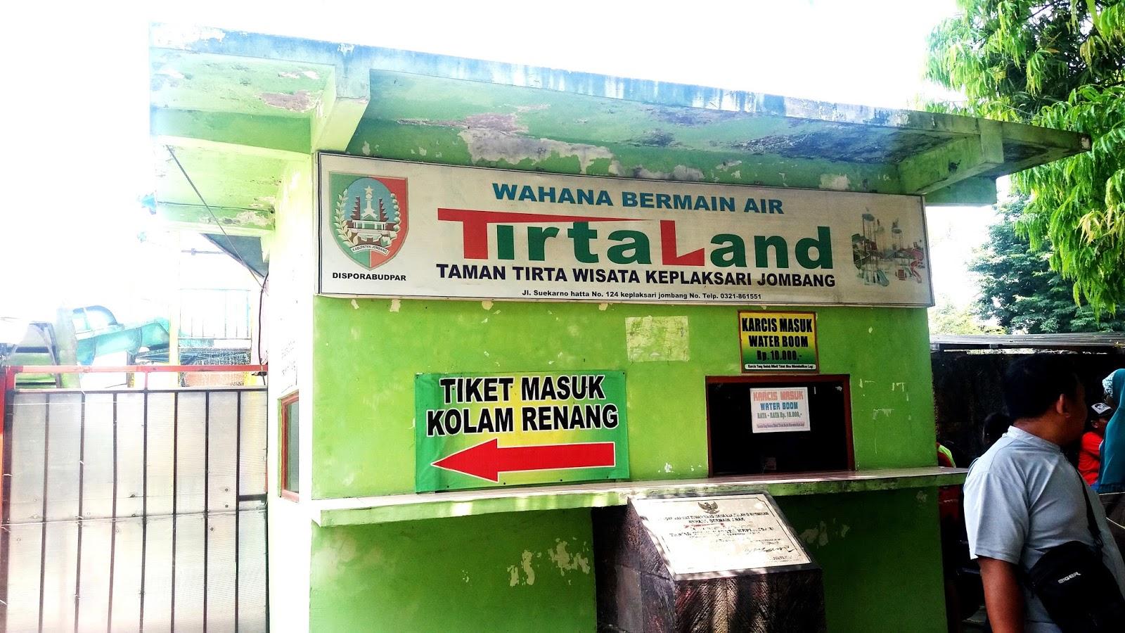 Wisata Keluarga Jombang Wahana Bermain Air Tirtaland Loket Tiket Masuk