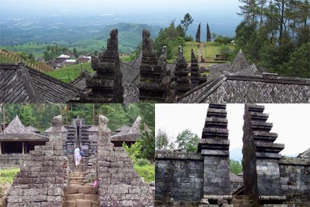 Candi Cetho Indonesia Nakarasido Hita Main Temple Buildings Similar Entrance