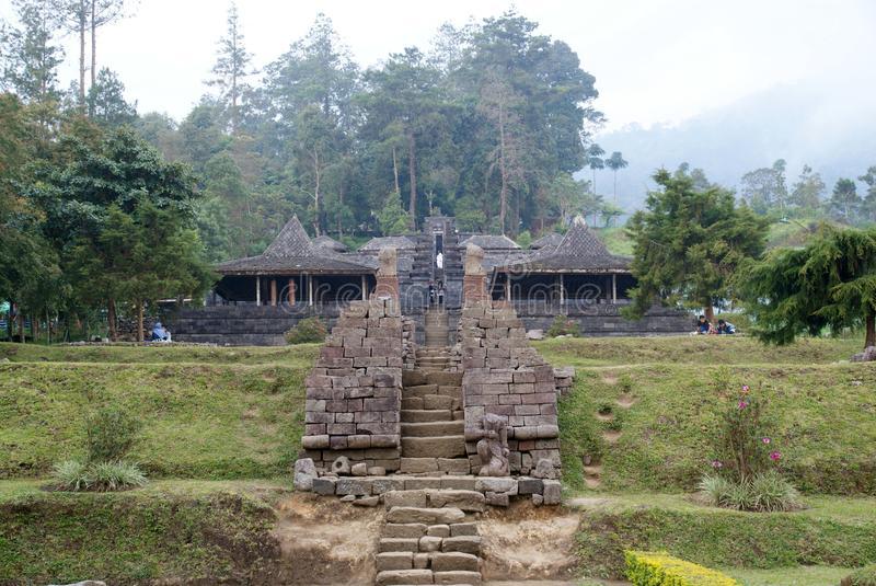 Cetho Temple Candi Located Karanganyar Java Indonesia Download Stock Ceto
