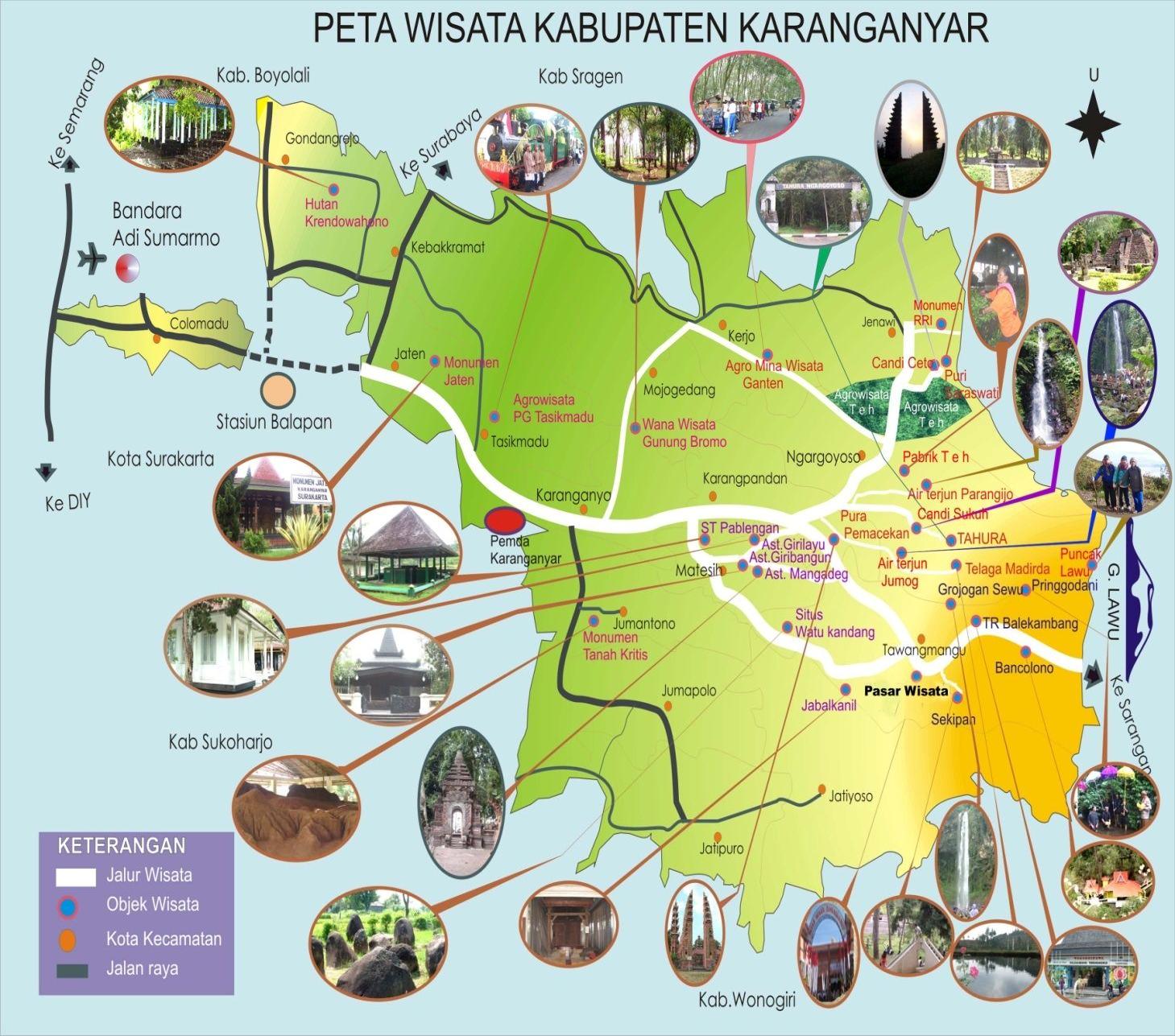 Pariwisata Peta Wisata Karanganyar Candi Ceto Kab