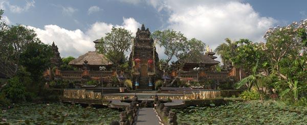 Pura Taman Saraswati Ubud Bali Indonesia Luas Indah Gambar Wisataarea