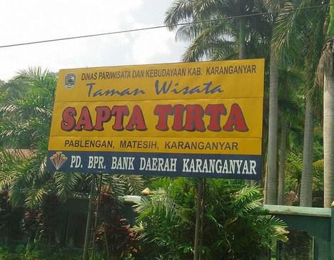 Pesona Keindahan Destinasi Wisata Sapta Tirta Pemblengan Karanganyar Solo Jawa