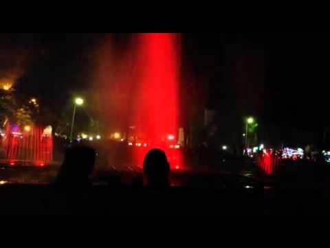 Air Mancur Taman Gajah Karanganyar Youtube Laser Kab
