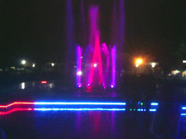 Taman Air Mancur Karanganyar Menarikkah Omprap Efek Pencahayaan Baik Laser